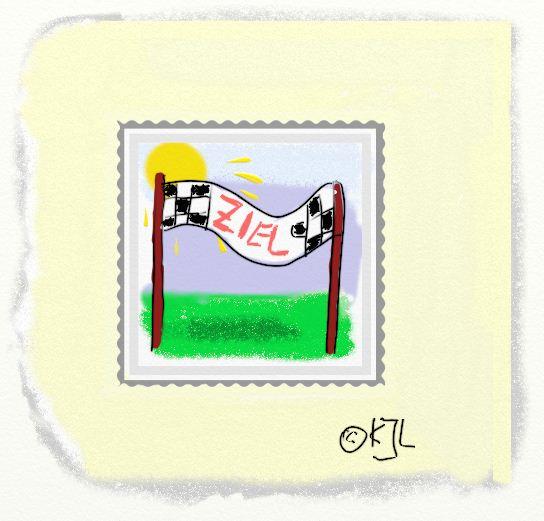 Ziel Briefmarke